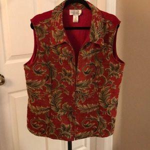 Susan Graver Brocade Zip vest